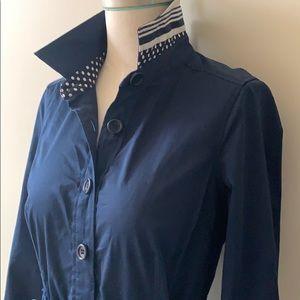 Vineyard Vines Navy Blue Belted Dress